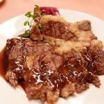 ピッツェリア・サバティーニ - 和牛リブロース肉のタリアータ