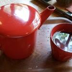 翡翠館 てんぐの蔵 - 蕎麦湯