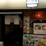 麺屋 楼蘭 - カウンターだけの店舗ですから、間口の狭い入口