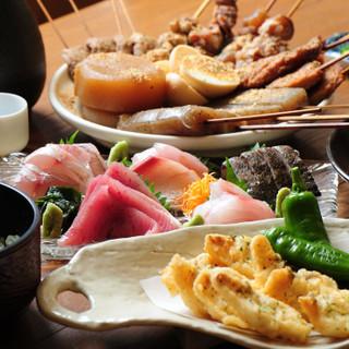 先取り野菜を使った季節料理をお届け。炭火焼きは絶品です!