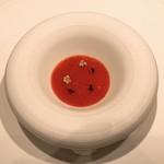 112770021 - はじまりのひと皿 けんたろ苺と海洋深海水 根セロリのムース