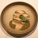 112770057 - 岩内 蝦夷鮑-フォアグラのマリネとあわび茸のコンフィ
