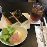 いしい - のりトーストとアイスティーのセット@920円