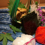 食・心 旬ぎく - 唐津の赤ウニ、ヤリイカ