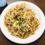 熱娘食堂 - 料理写真:焼きうどん(ホルモン入り)