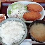 角屋食堂 - メンチカツ定食  700円