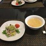 中国四川料理 道 - 2人とも1600円位で前菜とスープ。