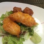 中国四川料理 道 - 海老マヨとじゃがいも揚げ。