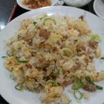 台湾料理 有福 - 炒飯とザーサイに杏仁豆腐