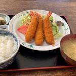 ひろや食堂 - エビフライ定食