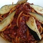 112801565 - 茄子ミートスパゲティー