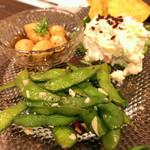 原価ビストロチーズプラス - 自家製前菜3種盛り合わせ