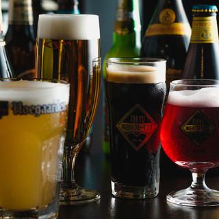 世界各地で愛されているクラフトビールをドラフトでご提供。