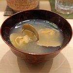 日本橋蛎殻町 すぎた - 浅蜊の味噌汁