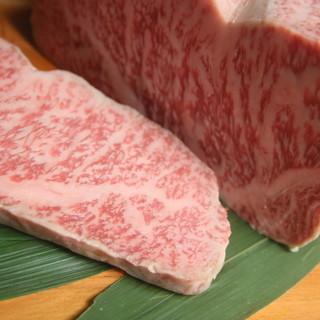 """厳選近江牛・神戸牛を使用した""""最高級ステーキ""""を。"""