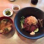アミューズキッチン - 料理写真:鬼おろしステーキ丼 1,250円税抜