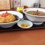 豊源 - 麺飯セット  756円(税込) ※真横から