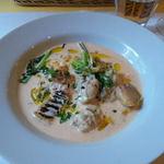 トラットリア・コッレ - 牡蠣と野菜のトマトクリームソース