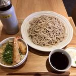 112830670 - ミニ天丼セット(冷)(おそば大盛)