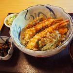 天水 - 料理写真:2019/7/24 ランチで利用。 天丼(1,554円)