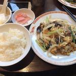 タイガー餃子 河原町店 - 豚キクラゲ卵炒め定食 880円+税
