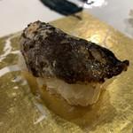 第三春美鮨 - 鱧の皮備長炭炙り