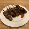肉の旭屋 - 料理写真:左がハラミ2本、スナギモ、かしら、レバー