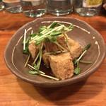 島の食べものや南風 - カラッと揚げた島豆腐のにんにくしょうゆ
