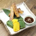 自然薯と生麩の味噌田楽