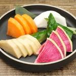長芋と色々野菜の漬物