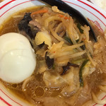 蒙古タンメン中本 - レディースセットの半味噌タンメン