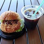ベーカリーカフェ メルカド - 料理写真:ハムカツサンド¥260+アイスコーヒー¥100