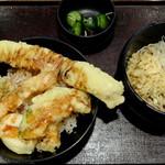 """柏庵 - """"丼ぶり/天丼 味噌汁をおそばに変更"""""""