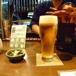 讃岐うどん酒房かんま - ・一番搾りグラス \500