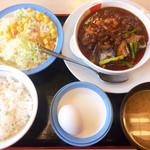 松屋 - 玉子で食べる四川麻婆豆腐定食(ライスミニ)