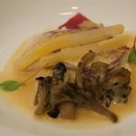 ザ・ガーデン - 優しく蒸しあげたイトヨリ 5種類のセリアルのリゾット 生姜風味のブルターニュ風ばたーそーす