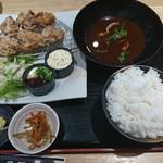 魚輝水産 - 唐揚げ定食。
