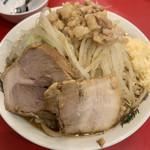 ラーメン 男塾!! - 塾長ラーメン(野菜、ニンニクマシ)+麺大盛り
