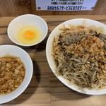 ヒノブタセカンド - 汁なし850円 別皿あぶら50円 生卵50円