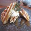 うわのそら - 料理写真:塩キャラメルアイスワッフル