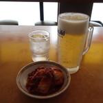 天理スタミナラーメン - ビール&キムと
