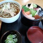 竹家 - 料理写真:ちらしセット 1100円