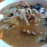 中華料理 李香 - 刀削麺の麺は結構しっかり目