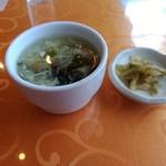 中華料理 李香 - 先に出てきた卵スープ