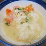 海街丼 - ・「海街丼(¥980)」の〆出汁茶漬け。