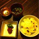 11292305 - 豆ご飯と、お味噌汁、香の物