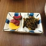 洋食かつ 兎 - ご飯セットの漬物