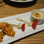 zensekikoshitsuumekonoie - トウモロコシ香ばし揚げ    カプレーゼ    ポテトサラダ