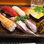 玄海鮨 - 梅にぎり(800円)+アジ(200円)+アナゴ(200円)