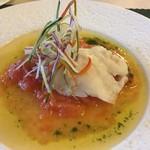 ログホテル ザ メープル ロッジ - 北海道産ヒラメのヴァプール 毛陽産フレッシュトマトのソースで